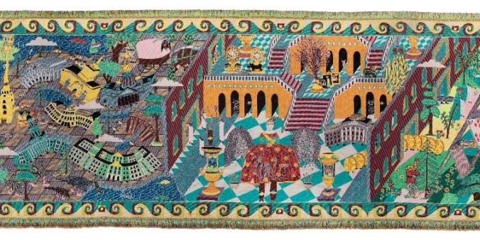 Tapestry by the TextielMuseum and Koen Taselaar celebrates cultural relations between the Netherlands and Russia