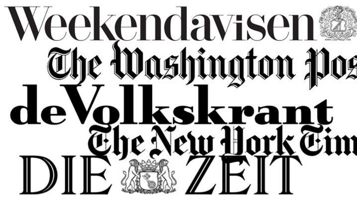 Logo's of the five awarded newspapers